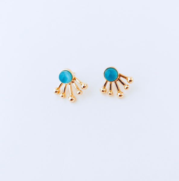 Blue Sky Agate 2-in-1 Jacket Earring