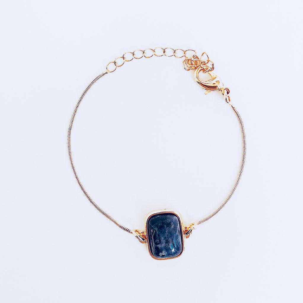 NYC Blue Sodalite Rectangle Bracelet