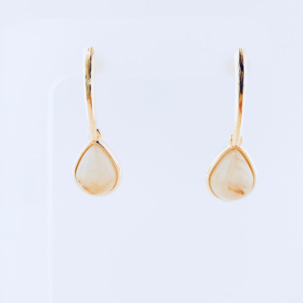Lisbon Rutile Quartz Tear Drop Earring