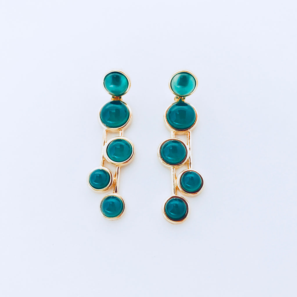 Vogue Green Agate Earring