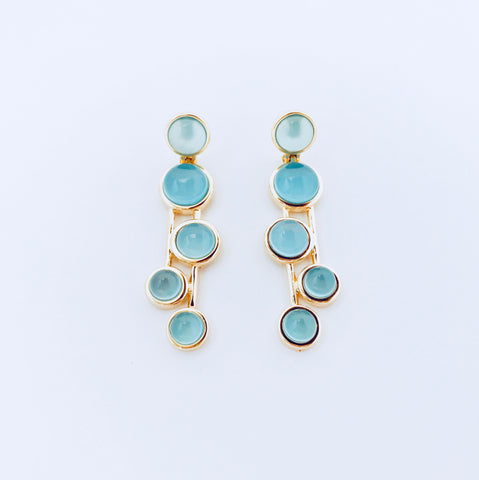 Vogue Blue Sky Agate Earring