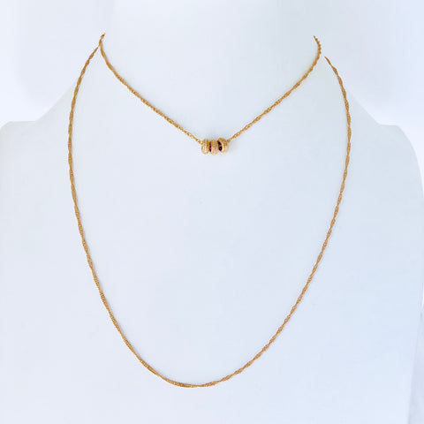 Austin Rose Gold Long Necklace