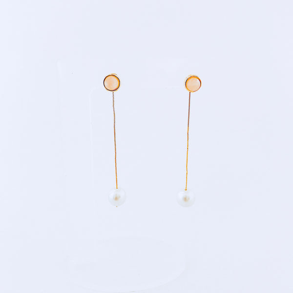Pink Quartz & Pearl 2-in-1 Earring