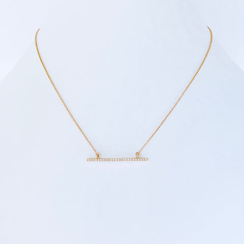 Austin Rose Gold Bar Necklace