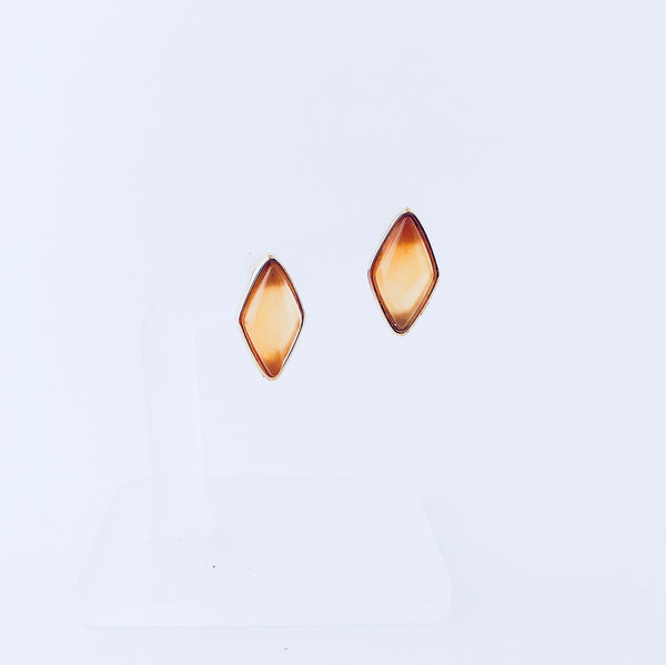 Red Agate Stud Earring