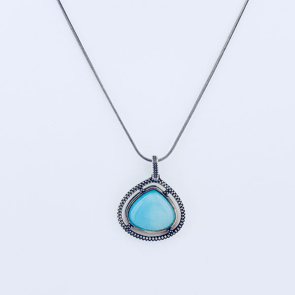 Austin Blue Sky Agate Necklace