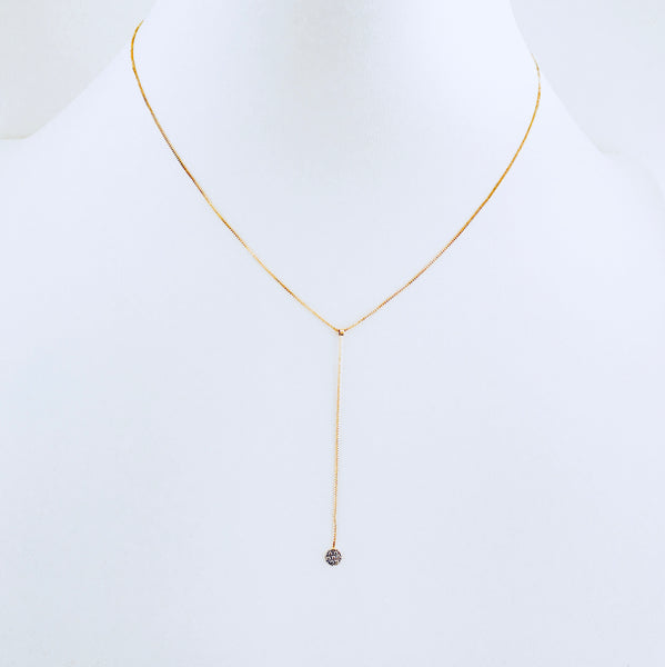 Austin Gold Zirconia Drop Necklace