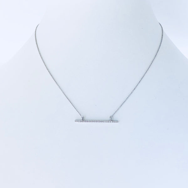Austin Rhodium Bar Necklace