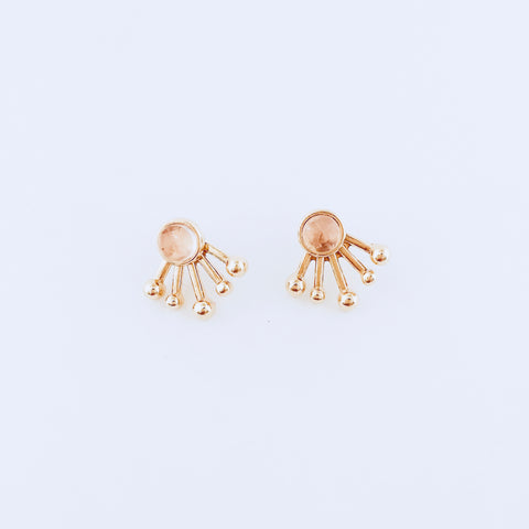 Rio Pink Quartz 2-in-1 Jacket Earring