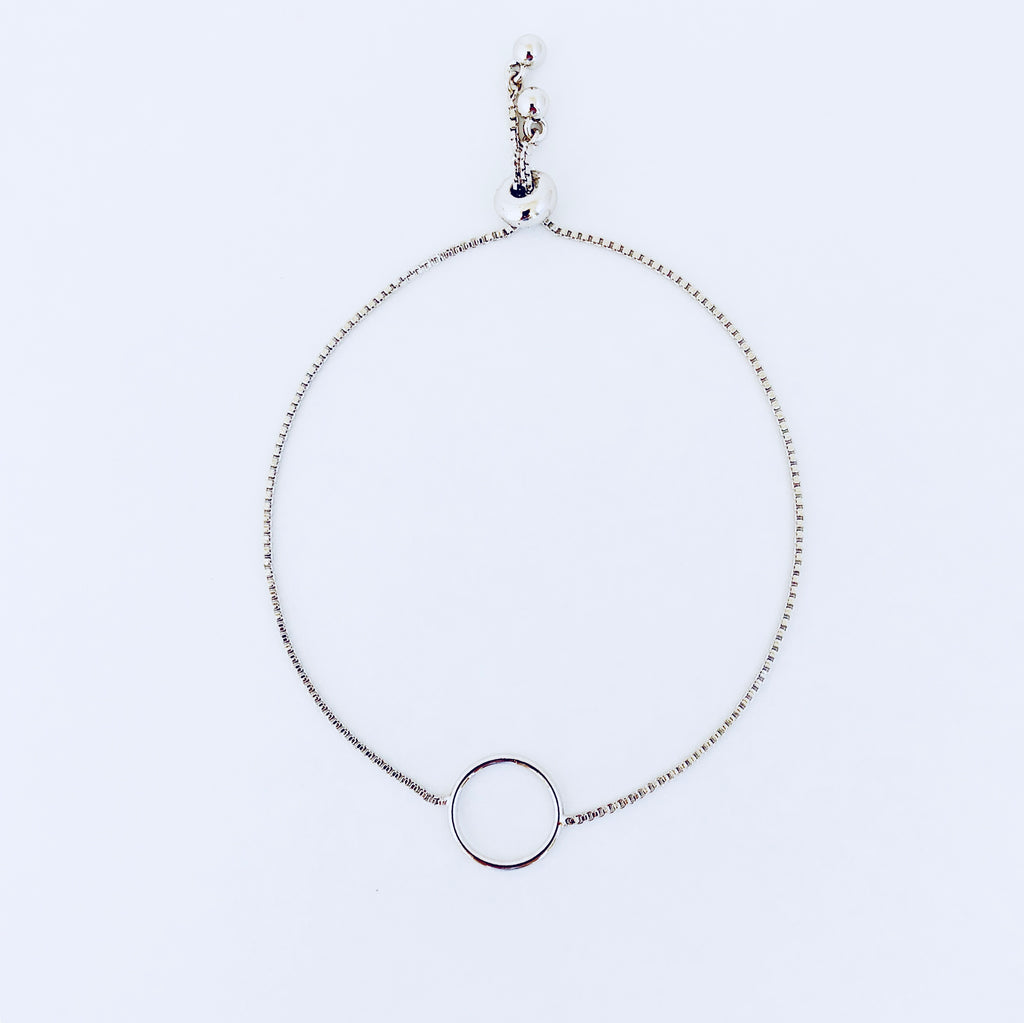 Austin Rhodium Adjustable Circle Bracelet