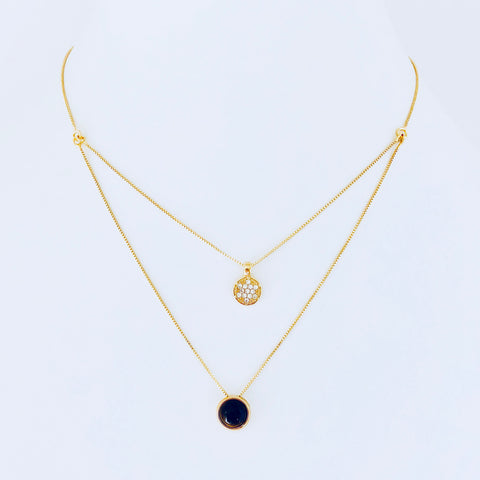 Austin Tiger's Eye & Zirconia Necklace