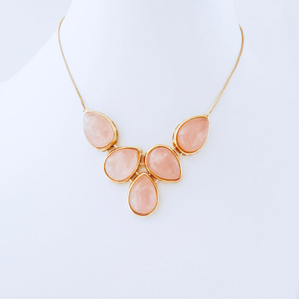 Cayman Pink Quartz Necklace