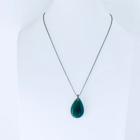 Lisbon Green Agate Necklace