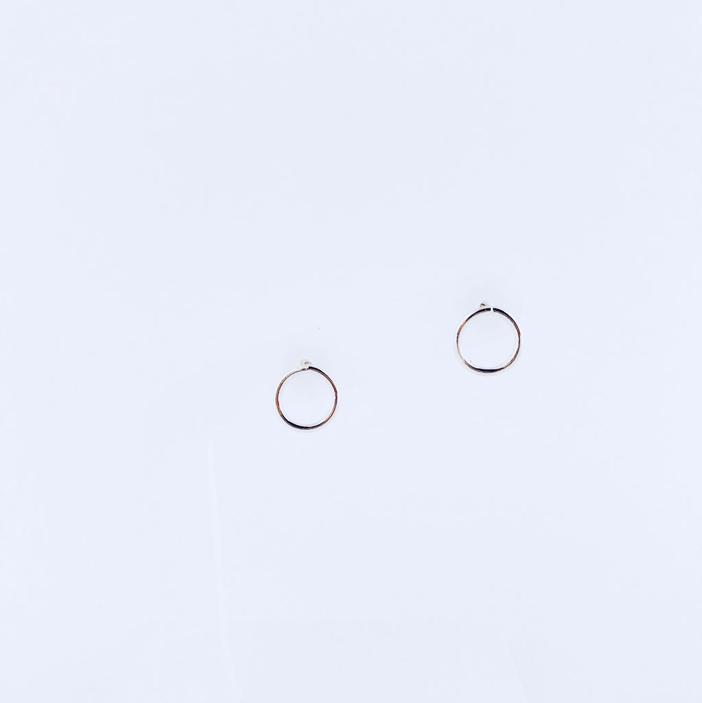 Austin Rhodium Circle Earring