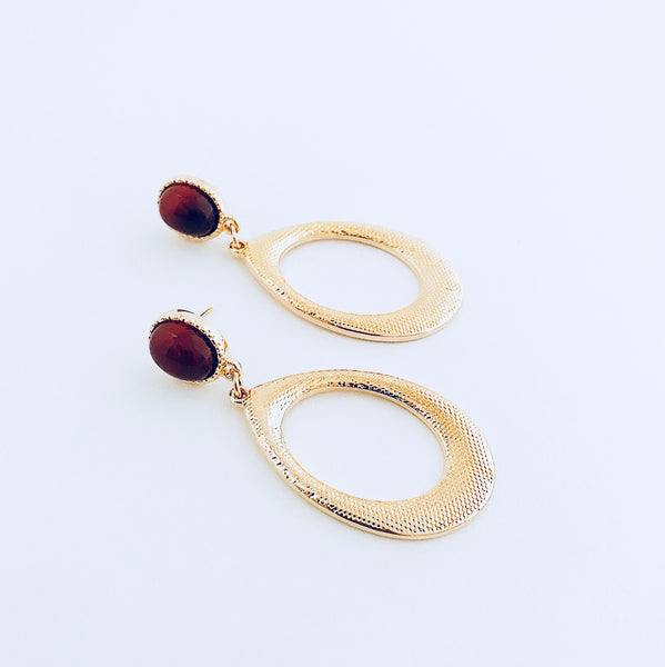 Rio Red Agate Dangle Earring