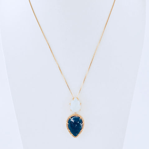 Barcelona Opaline & Blue Sodalite Necklace