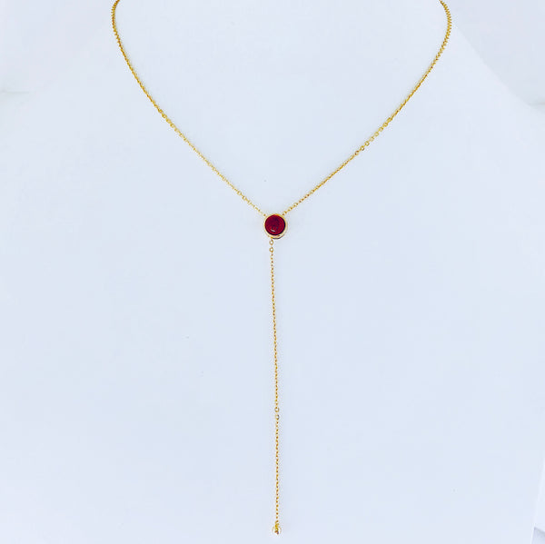Austin Red Agate Necklace