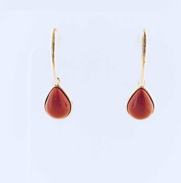 Lisbon Sunstone Tear Drop Earring