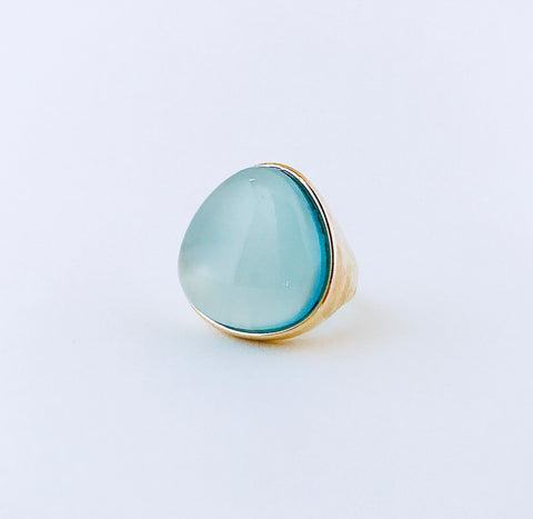 Cayman Blue Sky Agate Ring