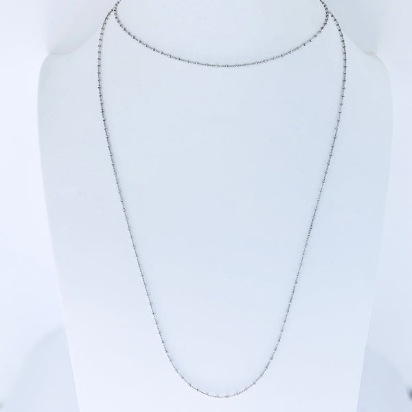 Austin Rhodium Long Necklace