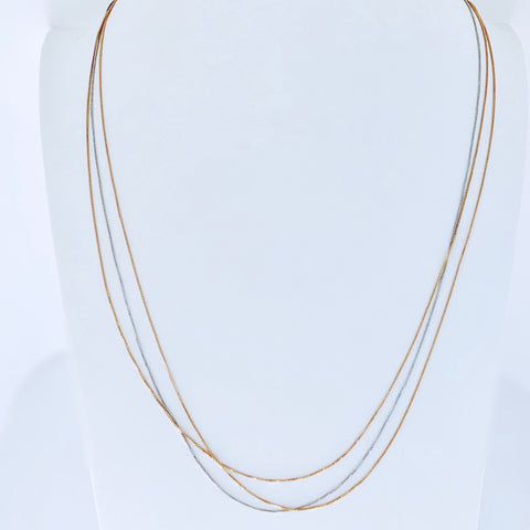 Austin Rose Gold & Rhodium Long Necklace