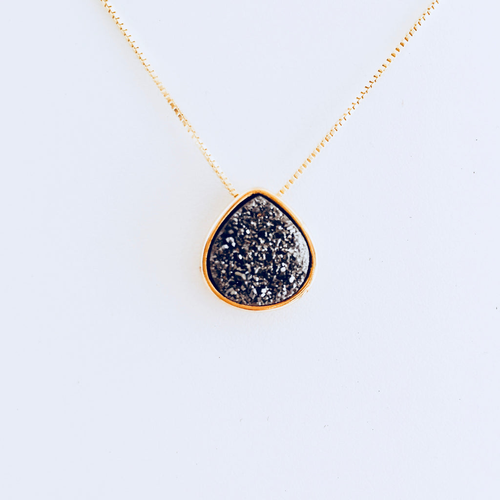 Lisbon Large Pendant Druzy Necklace