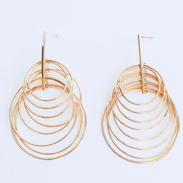Gold Dangle Layered Earring