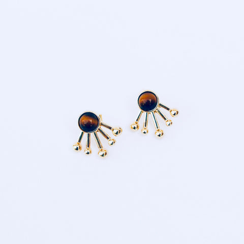 Rio Tiger's Eye 2-in-1 Jacket Earring