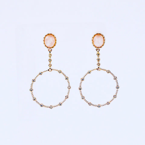 London Pink Quartz Earring