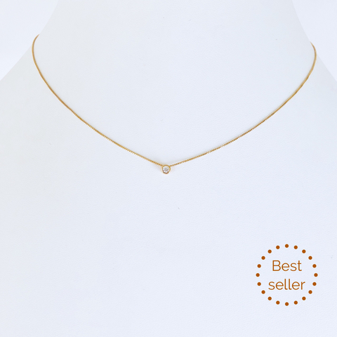 Austin Zirconia Gold Necklace