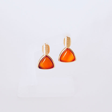 Tokyo Red Agate Earring