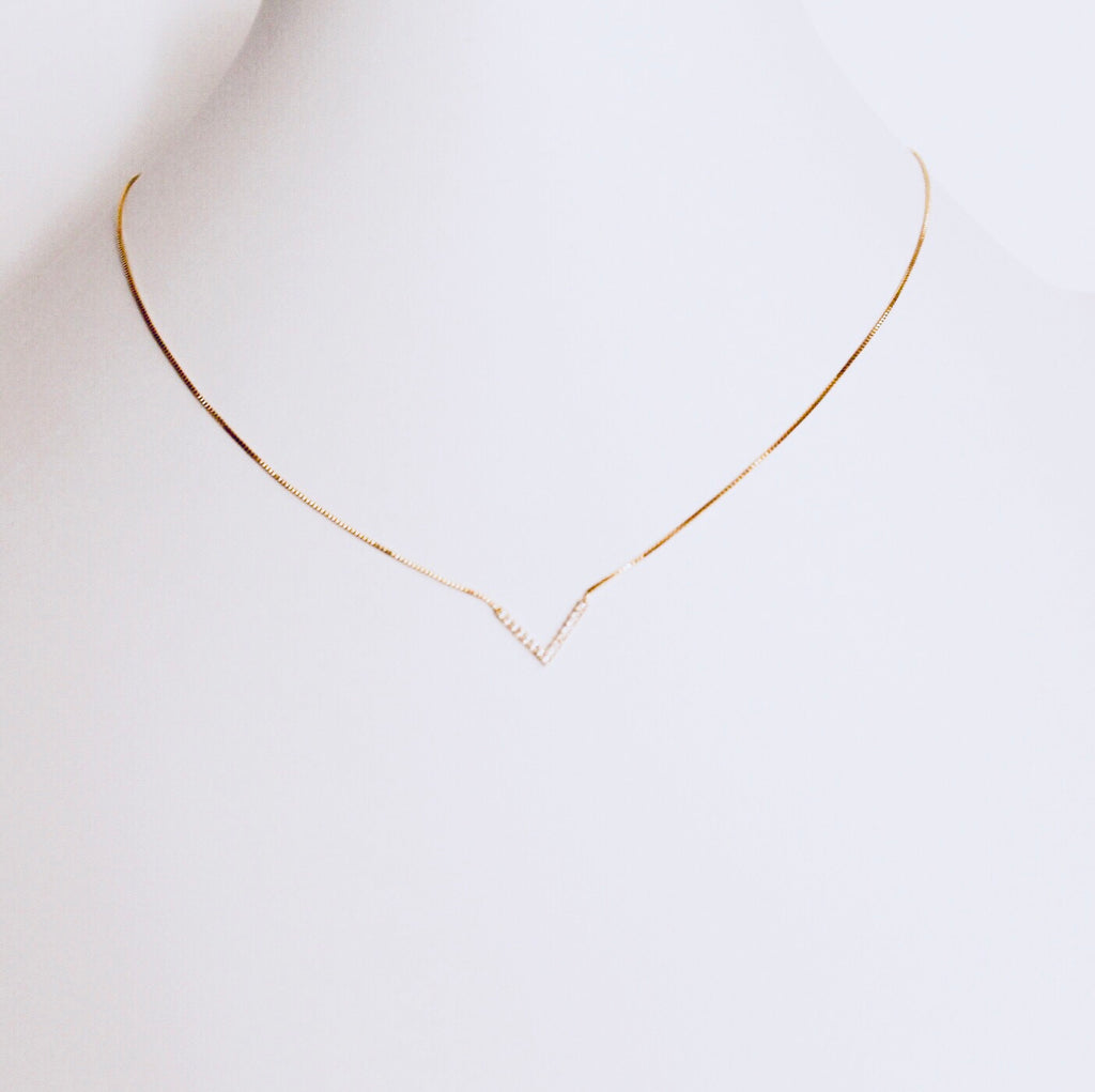 Austin Gold V Necklace