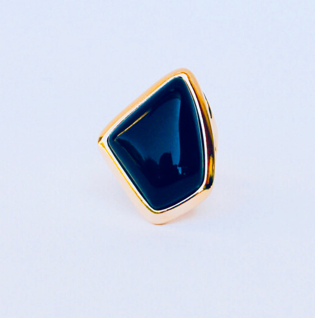NYC Black Agate Ring