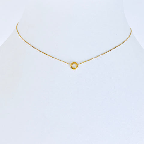 Austin Gold Circle Necklace Small