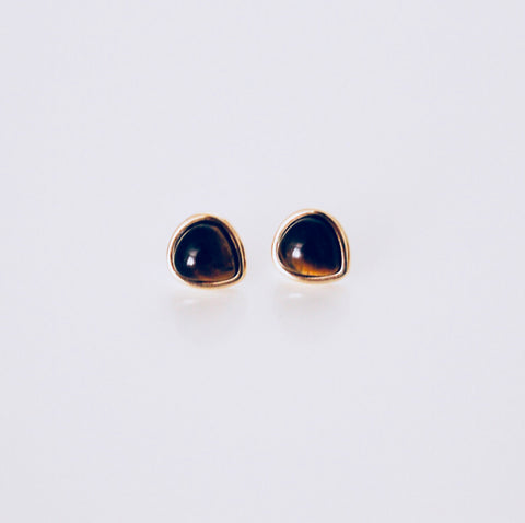 Mykonos Tiger's Eye Stud Earring