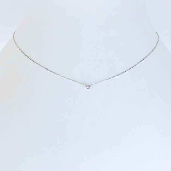 Austin Zirconia Rhodium Necklace