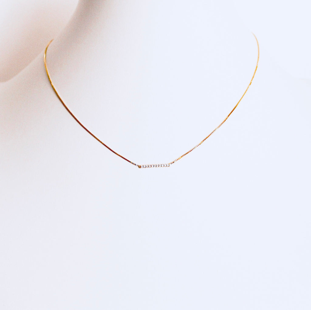 Austin Gold Small Bar Necklace