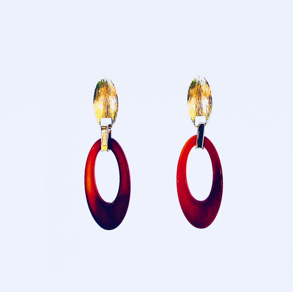 NYC Red Agate Earring