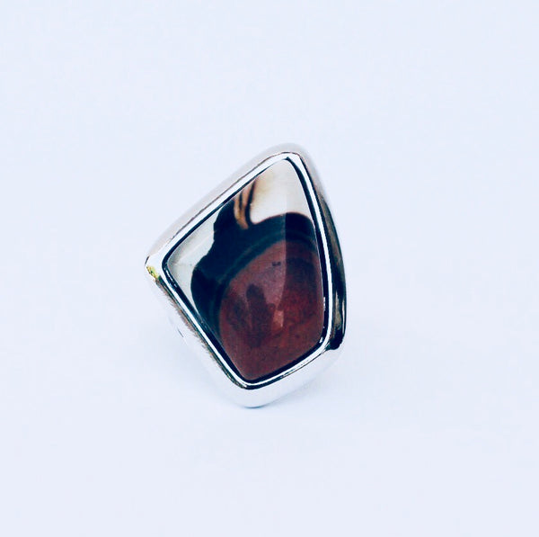NYC Jasper Rhodium Ring