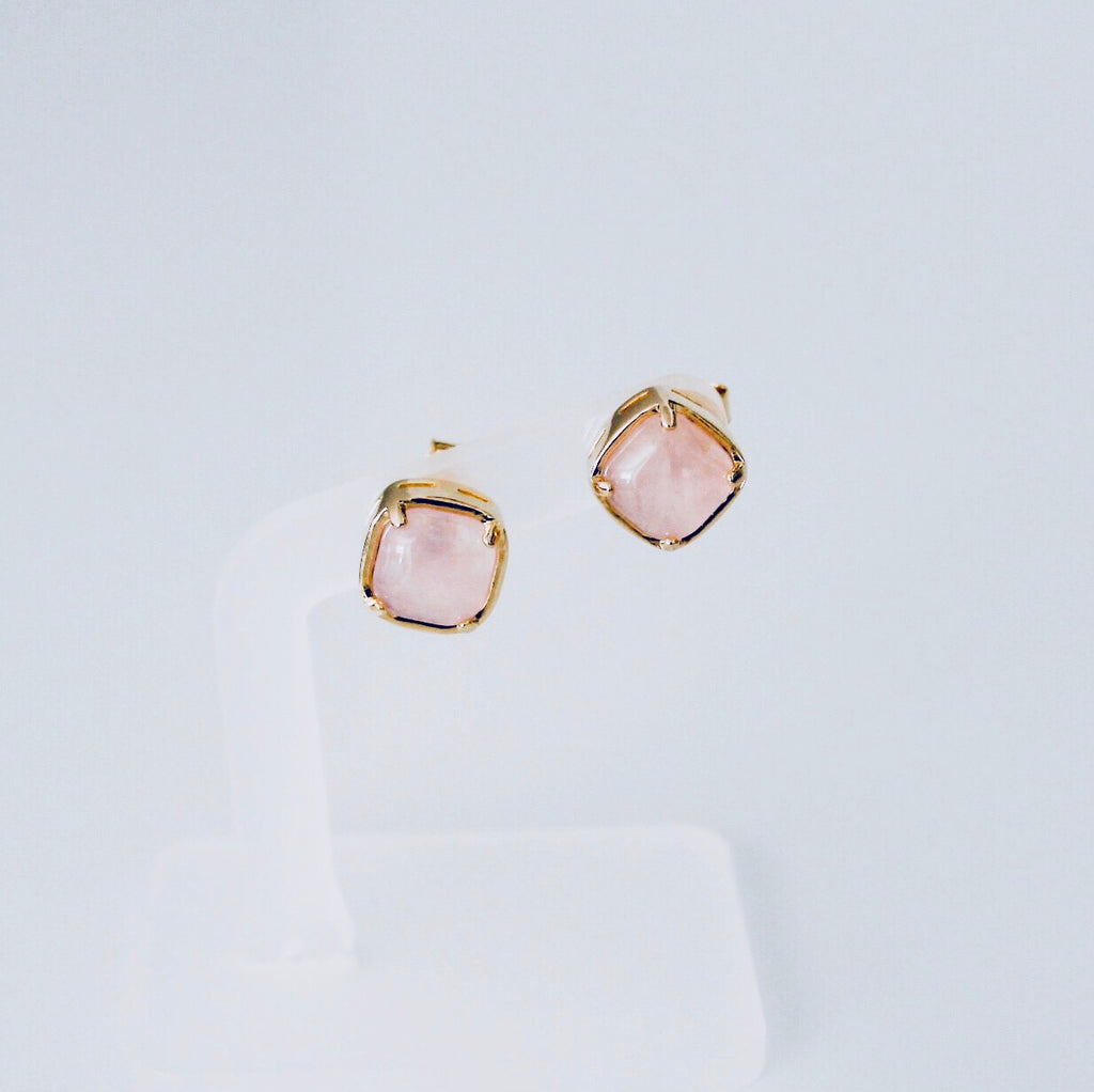 NYC Pink Quartz Stud Earring