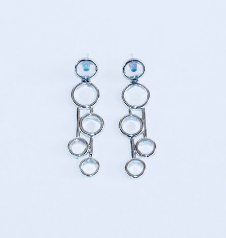 Vogue Opaline Rhodium Earring
