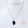 NYC Blue Sodalite Rhodium Necklace