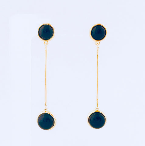 NYC Black Agate Earring