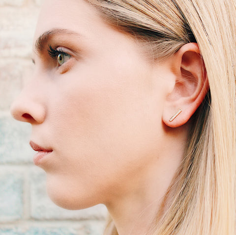 Austin Zirconia Bar Stud Earring