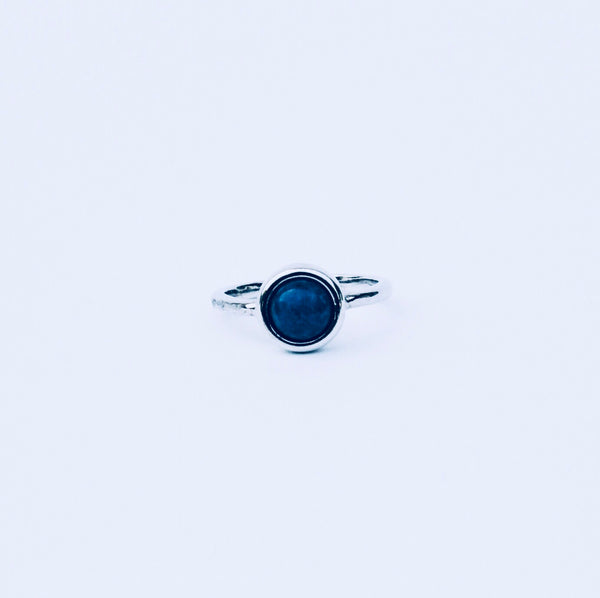 Sydney Blue Sodalite Rhodium Ring