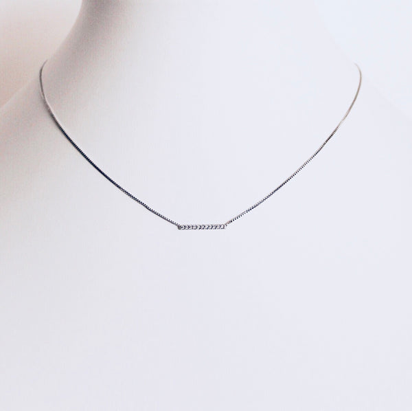 Austin Rhodium Small Bar Necklace