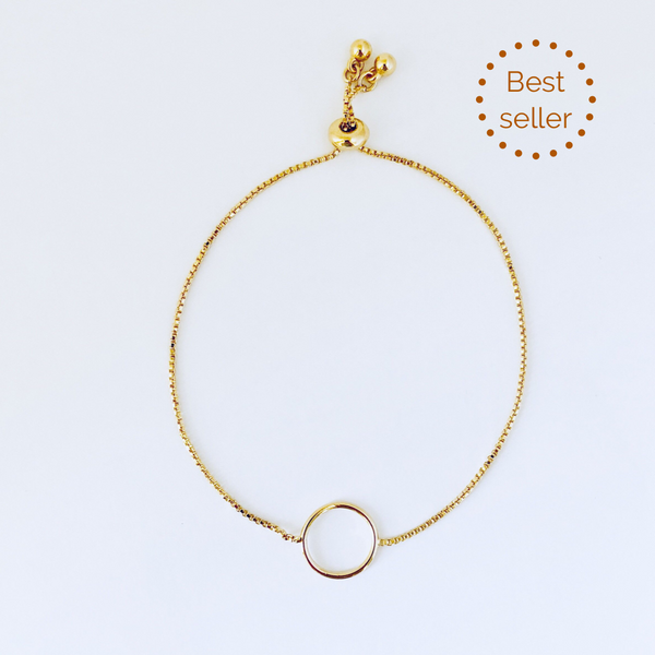Austin Gold Adjustable Circle Bracelet