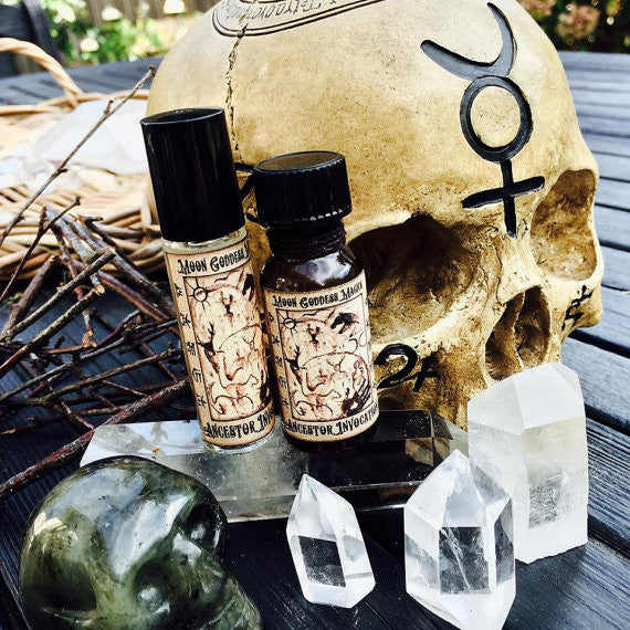 Ancestor Invocaton Oil ~ Pagan ~ Ancestor Spirit Work ~ Working with Ancestors in the Spirit World ~ Also Samhian and Beltaine Rituals - Moon Goddess Magick Apothecary