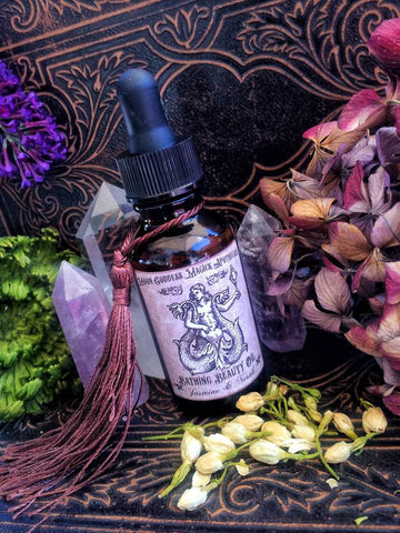 Bathing Beauty Essential Oil Blend with Jasmine and Neroli, Sensual, Feminine, Sexual Desire, Attraction, Tantra, Ritual Bath , 1oz Dropper - Moon Goddess Magick Apothecary
