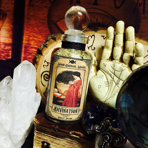 Divination Incense Blend with Crystal Ball top~ Scrying ~ Divination ~ Fortune telling tool ~ Witchcraft ~ Vision Incense - Moon Goddess Magick Apothecary